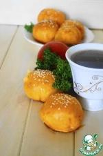 Томатные пирожки с картофельно-сырной начинкой