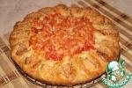 Пирог с семгой и овощами