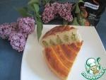 Пирог с зеленым горохом и луком
