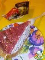 Маковый чизкейк с ягодным желе