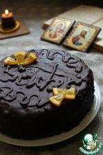 """Постный торт """"Захер"""" с мандариновым джемом"""