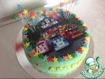 Торт с сахарной картинкой и мастикой