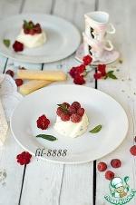 Творожный десерт с малиной без выпечки