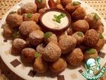 Творожно-малиновые клецки во фритюре