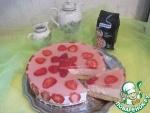 Сладкий пирог или торт клубничный с нутовым бисквитом