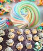 Разноцветные меренги-безе