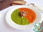 Овощной суп с запеченным чесноком