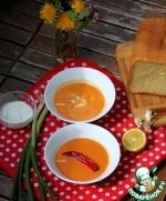 Суп-пюре из болгарского перца и белой фасоли