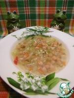 Суп с капустой, нутом и булгуром
