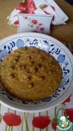 Гороховый суп-пюре с грибами