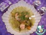 Суп с красной рыбой и фенхелем