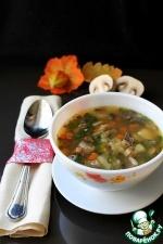 Острый грибной суп