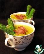 Лилльский горчичный суп с зелеными гренками