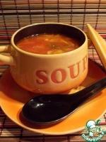 Томатный суп с перловкой и китайской капустой