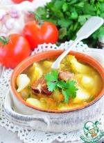 Быстрый гороховый суп из молодых овощей