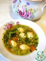 Легкий весенний супчик с картофельными клецками и щавелем