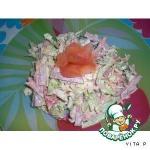 Салат весенний с копчeной колбасой