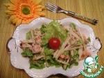 Салат с неркой и печенью трески