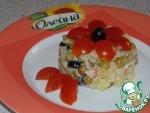 Постный салат с раковыми шейками