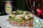 Слоеный салат с креветками