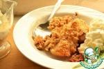 Десерт из груш с овсяной корочкой