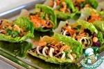 Весенний салат с цитрусовой заправкой
