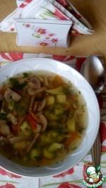 Суп с брокколи и брюссельской капустой