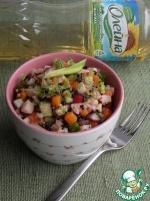 Овощной салат с черным рисом