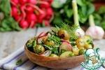 Постный теплый овощной салат