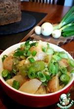 Картофель и фасоль в сливках