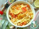Салат из молодой капусты с помидором