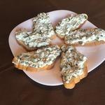Бутерброды с зелёным луком