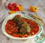 Баклажанные фрикадельки в соусе Маринара
