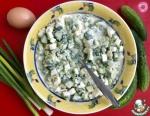 Яичный салат с песто